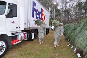 FedEx Delivers Early Christmas Present for Troops