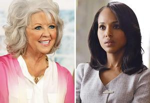 Paula Deen, Kerry Washington | Photo Credits: Monica Morgan/WireImage/Getty Images; Eric McCandless/ABC