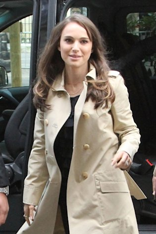Natalie Portman arrives at the Dior offices in Paris on April 5, 2012  -- Getty Premium
