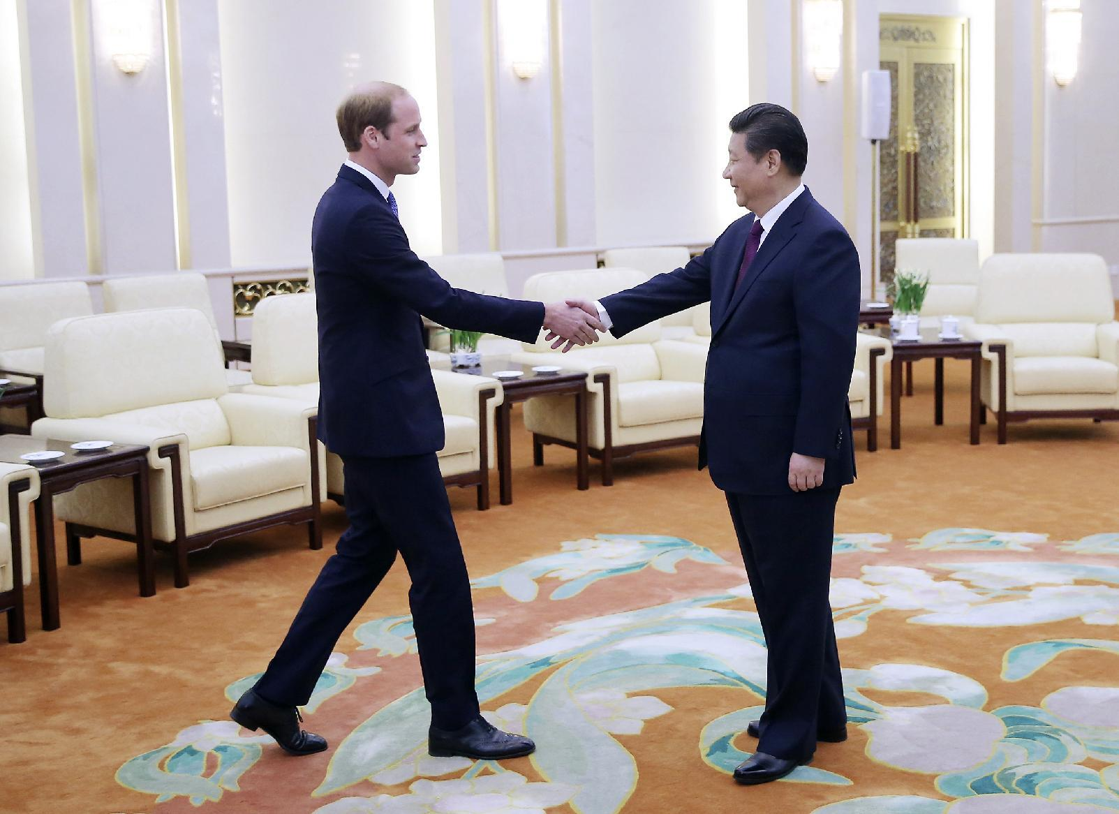 Britain's Prince William takes on diplomatic role in China