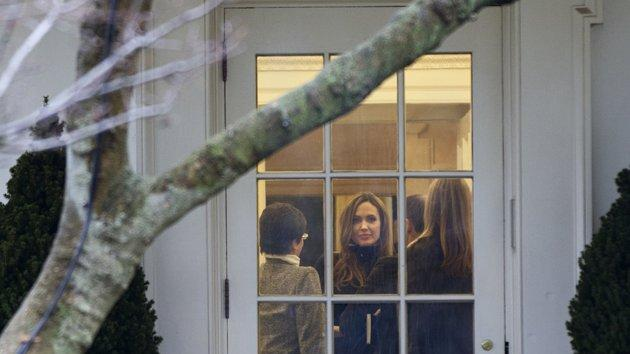 Brangelina spotted at the Oval Office