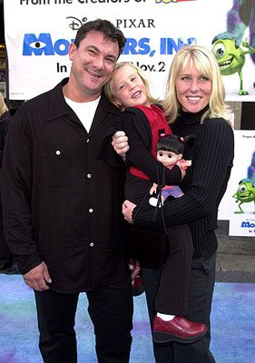 Mary Gibbs with her parents at the Hollywood premiere of Monsters, Inc.