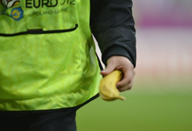 A Steward Holds A Banana 
