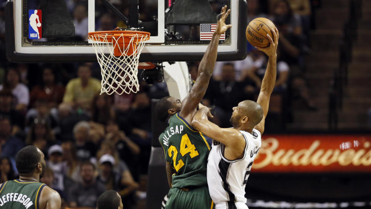 NBA: Utah Jazz at San Antonio Spurs
