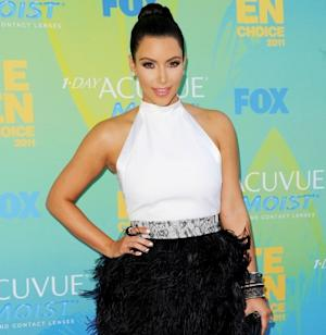 Kim Kardashian arrives at the 2011 Teen Choice Awards held at the Gibson Amphitheatre in Universal City, Calif. on August 7, 2011  -- Getty Images