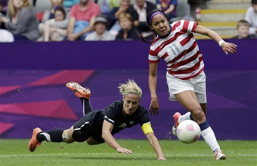 Sydney Leroux says she was object of racial abuse