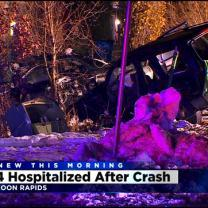 4 Injured In Anoka Co. Car Crash