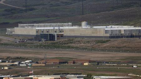 A National Security Agency data gathering facility is seen in Bluffdale, south of Salt Lake City
