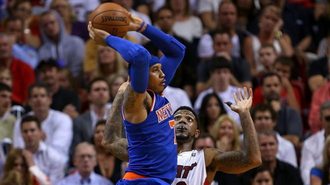 This season,Carmelo Anthony and the New York Knicks have the Miami Heat's number.