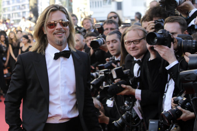 Actor Brad Pitt arrives for …