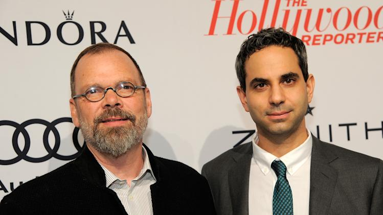 David France, left, and Howard Gertler arrive at The Hollywood Reporter Nominees' Night at Spago on Monday, Feb. 4, 2013, in Beverly Hills, Calif. (Photo by Chris Pizzello/Invision for The Hollywood Reporter/AP Images)