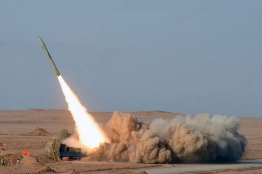 <p>Iran test-fires its short-range Fateh missile during the second day of military exercises at an undisclosed location in Iran's Kavir Desert. Iran has test-fired a ballistic missile capable of striking Israel as part of war games designed to show its ability to retaliate if attacked, media said.</p>