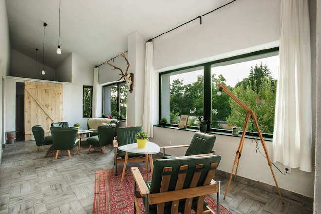 Renovated Apartment Comes with Two Staircases to Snug Attics