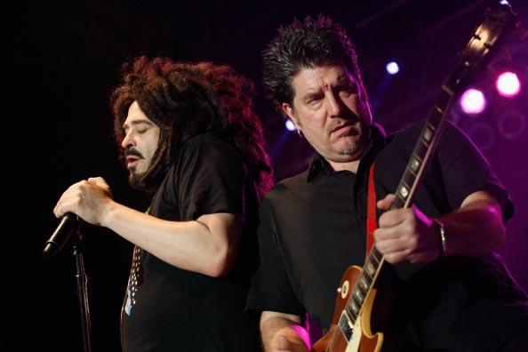 AUSTIN, TX - MARCH 16: Musicians Adam Duritz and David Immergluck of Counting Crows performs onstage at BMI Showcase during the 2012 SXSW Music, Film   Interactive Festival at Austin Music Hall on March 16, 2012 in Austin, Texas. (Photo by Dustin Finkelstein/WireImage)