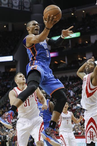 Thunder roll to 124-94 win over Rockets
