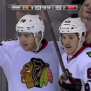 Blackhawks tally twice in 56 seconds