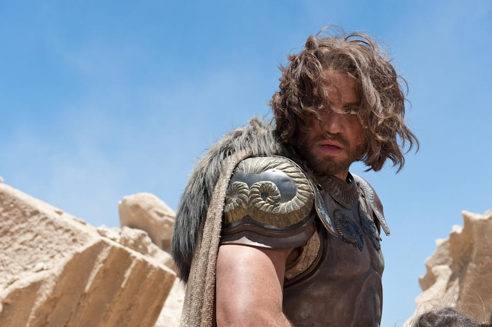 "In this film image released by Warner Bros., Edgar Ramirez portrays Ares in a scene from ""Wrath of the Titans."" (AP Photo/Warner Bros. and Legendary Pictures, Jay Maidment)"