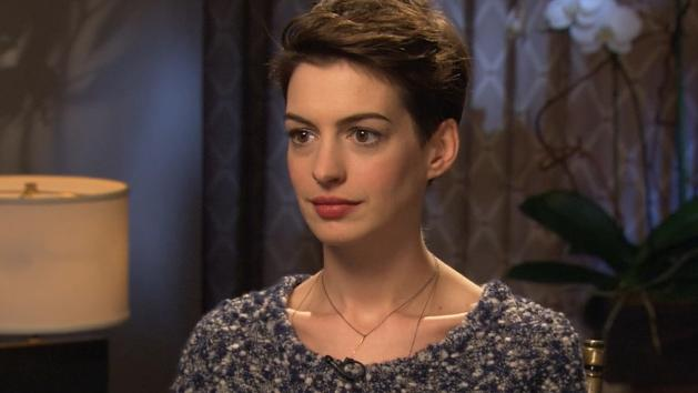 Anne Hathaway chats with Access Hollywood at the 'Les Miserables' junket in New York City, Dec. 2, 2012 -- Access Hollywood