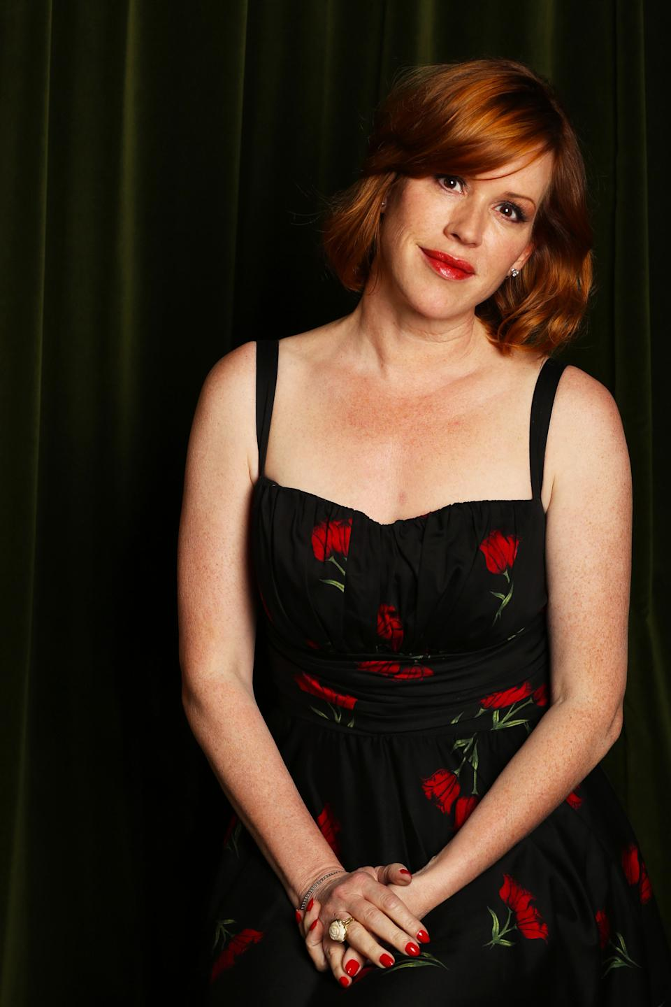 "This April 9, 2013 photo shows actress-singer Molly Ringwald posing in Los Angeles. Ringwald's latest CD  ""Except Sometimes,"" was released earlier this month. (Photo by Alexandra Wyman/Invision/AP)"