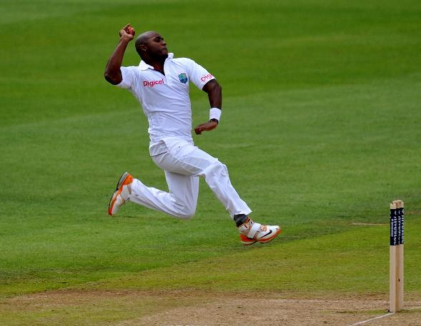 Tino Best, pictured, denied Nasir Hossain a century