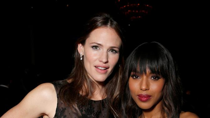 Actresses Jennifer Garner, left, and Kerry Washington attend the 24th Annual Producers Guild (PGA) Awards at the Beverly Hilton Hotel on Saturday Jan. 26, 2013, in Beverly Hills, Calif. (Photo by Todd Williamson/Invision for Producers Guild/AP Images)
