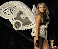 A model wears lingerie at a previous Victoria's Secret Fashion Show