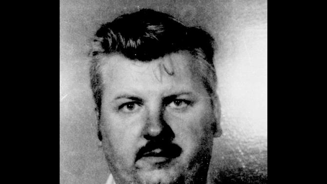 FILE - This 1978 file photo shows serial killer John Wayne Gacy. Three vials of  Gacy's blood were recently discovered by Cook County Sheriff's detective Jason Moran. The sheriff's office is creating DNA profiles from the blood of Gacy and other executed killers and putting them in a national DNA database of profiles created from blood, semen, or strands of hair found at crime scenes and on the bodies of victims. What they hope to find is evidence that links the long-dead killers to the coldest of cold cases and prompt authorities in other states to submit the DNA of their own executed inmates and maybe evidence from decades-old crime scenes to help them solve their own cases. (AP Photo)
