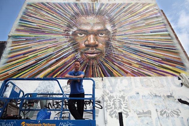 James Cochran Aka Jimmy C's Artwork Of Runner Usain Bolt