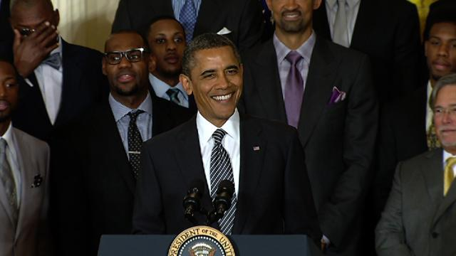 Obama jokingly takes credit for Miami Heat championship