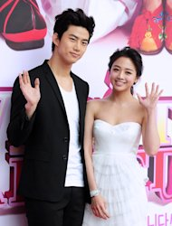 2PM Taecyeon and Emma Wu