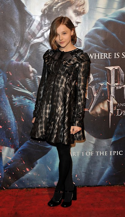 Harry Potter and the Deathly Hallows pt 1 UK premiere 2010 Chloe Moretz