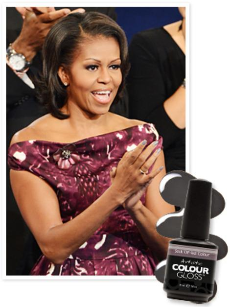 Found It! Michelle Obama's DNC Grey Nail Polish