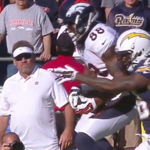 Denver Broncos wide receiver Demaryius Thomas 29-yard grab