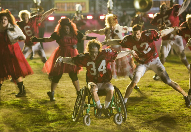 "The glee club performs in a special episode of ""Glee"" airing after Super Bowl XLV."