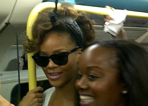 Rihanna takes the tube to gig