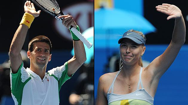 Novak Djokovic and Maria Sharapova
