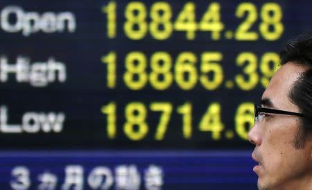 Asian shares firm as U.S. stocks hit records; RBA in focus