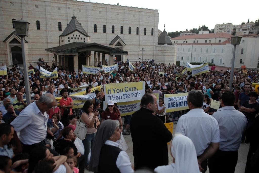 Israeli Christians protest 'discriminatory' school funding