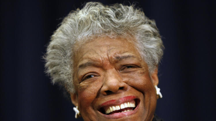 "FILE - This Nov. 21, 2008 file photo shows poet Maya Angelou smiling in Washington. Angelou, a Renaissance woman and cultural pioneer, has died, Wake Forest University said in a statement Wednesday, May 28, 2014. She was 86. Maya Angelou walked into a meeting of civil rights leaders discussing affirmative action, looked around, and put them all in their place with a single observation. ""She came into the room,"" recalled Al Sharpton, ""and she said, 'The first problem is you don't have women in here of equal status. We need to correct you before you can correct the country.'"" Angelou, who died Wednesday at age 86, will be forever known for her soaring poetry and her searing memoirs. But her impact transcended her written words. She was the nation's wise woman, a poet to presidents, an unapologetic conscience for the civil rights movement. Never hesitant to speak her mind, Angelou passionately defended women, and literature, and the right of younger generations to be heard. ""I've seen many things, I've learned many things,"" she told The Associated Press in 2013. ""I've certainly been exposed to many things and I've learned something: I owe it to you to tell you.""(AP Photo/Gerald Herbert, File)"