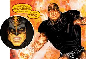 The Infernal Core jumps from TV (inset) to comics | Photo Credits: DC Entertainment; inset: Nicole Wilder/Syfy