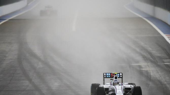 Williams Formula One driver Bottas of Finland drives during the second practice session ahead of the Russian F1 Grand Prix in Sochi