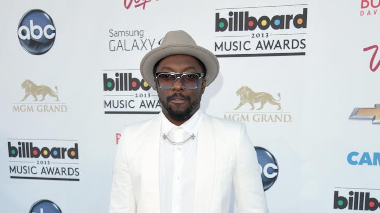 Will.i.am arrives at the Billboard Music Awards at the MGM Grand Garden Arena on Sunday, May 19, 2013 in Las Vegas. (Photo by John Shearer/Invision/AP)