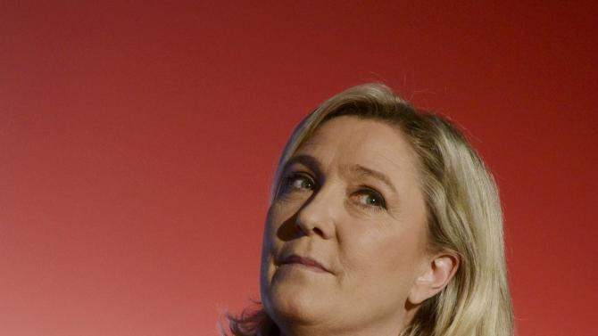 Marine Le Pen, French National Front political party leader attends a political rally for the upcoming regional elections in Nice