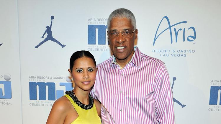 IMAGE DISTRIBUTED FOR JORDAN - NBA Legend Julius 'Dr. J' Erving, right, and wife Dorys Erving arrive at the Michael Jordan Celebrity Invitational opening night dinner on Wednesday, April 3, 2013 in Las Vegas. (Photo by Jeff Bottari/Invision for Jordan/AP Images)