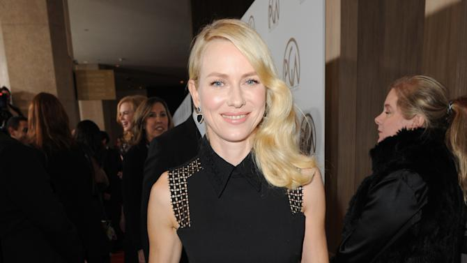 IMAGE DISTRIBUTED FOR THE PRODUCERS GUILD - Naomi Watts arrives at the 24th Annual Producers Guild (PGA) Awards at the Beverly Hilton Hotel on Saturday Jan. 26, 2013, in Beverly Hills, Calif. (Photo by Jordan Strauss/Invision for The Producers Guild/AP Images)