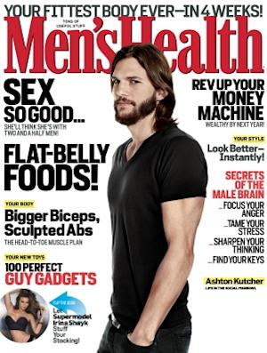 Ashton Kutcher on the cover of Men's Health (Dec. 2011) -- Men's Health