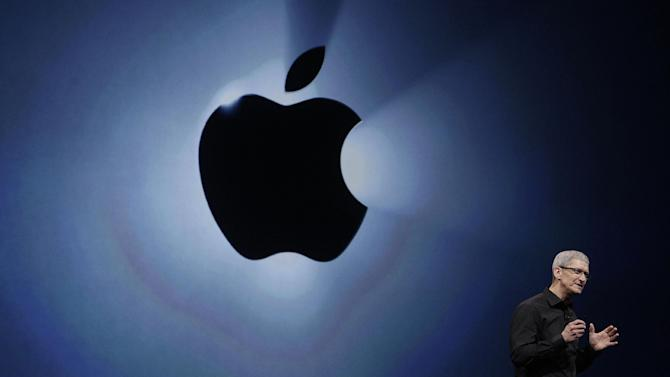 Apple CEO Tim Cook speaks during an Apple event in San Francisco, Wednesday, Sept. 12, 2012. (AP Photo/Jeff Chiu)