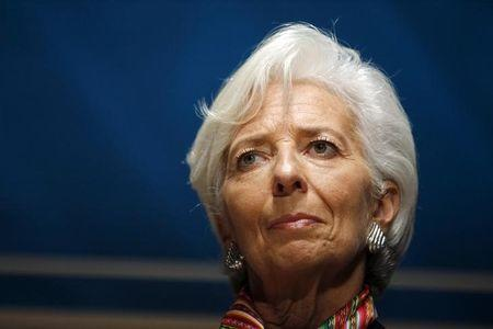 "International Monetary Fund (IMF) Managing Director Christine Lagarde attends the session ""Debate on the Global Economy"" session during the 2015 IMF/World Bank Annual Meetings in Lima"