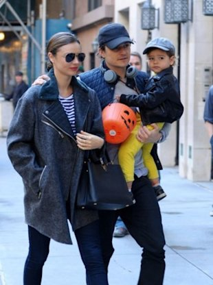 Miranda Kerr, Orlando Bloom and Finn