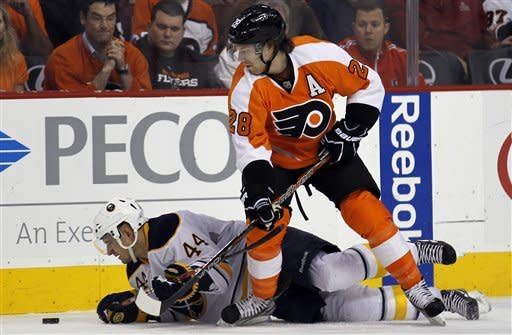 Flyers eliminate Sabres from playoffs in 2-1 win